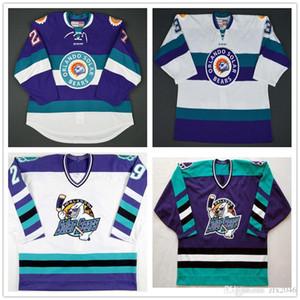 Vintage Orlando Solar Bears buz # 27 Eric Faille 29 David Bell Hokeyi Jersey Nakış Dikişli herhangi numarası ve adı Formalar