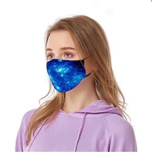 Máscaras Mascerine 2020 Mout New Elastic cópia de Camo Dener Impresso 4 Layer Mask Earloop Poeira Filtrition Fa para Man Woman # 314 # 943