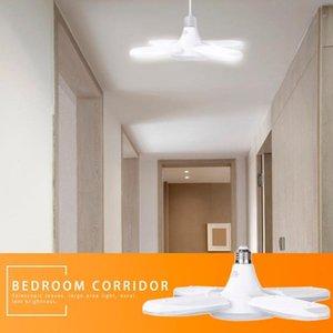 Durable Shop Work Light High Luminescence Purity 60W E27 Folding LED Work Light AC110-265V 6000LM Deformable Garage Ceiling Lamp