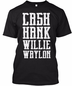 Primavera Estate manica corta T Shirt Cash Hank Willie Amp Waylon modo degli uomini T-Slim Fit Plus Size Top