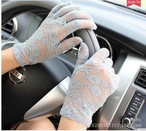 sexy delle SHDDM nuove donne di estate e guidare auto elettrica protezione solare guanti di pizzo electrombile brevi guanti di pizzo