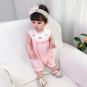 Summer Baby Rompers Embroidery Baby Girls Clothing Kids Jumpsuits Newborn Baby girls Clothes 0-2Y