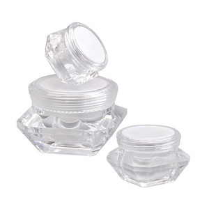 5g 10g 15g empty cosmetic container sample skin care cream jar diamond shape cosmetic packing bottle WB2731