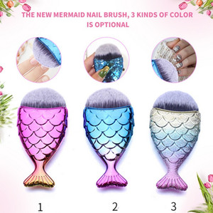 Mermaid Brush Professional Powder Mermaid Makeup Brushes Set Maquiagem Foundation Contour Brushes