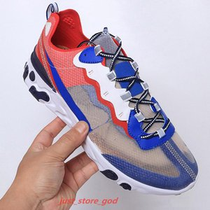 2020 react element 87 55 running shoes for men women Anthracite Light Bone triple RED ORBIT fashion mens trainers sports sneaker