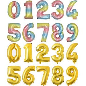 32 pouces Numéro Balloon Fête de fête Décorations Couleur Aluminium Feuille De Mariage Mariage Banquet Fournitures HWWE3141
