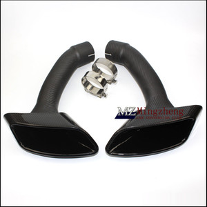 Suitable for X6 exhaust pipe carbon fibre car muffler tip BMW straight flange Glossy fiber Tail pipes