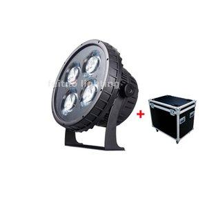 4pcs + flightcase Point Control IP68 Par Led 4x50w RGBW 4in1 WW CW 2IN1 Outdoor Led Par 64 Aluminum Strobe Dmx Led Par Lights