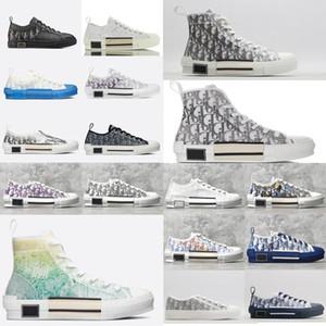 Dior neue b23 Oblique 2020 Art und Weise Turnschuhe High Low Top Vintage Obliques Leder Technische Schuhe Frauen neue Trainer Männliche Schuhe nyYh #