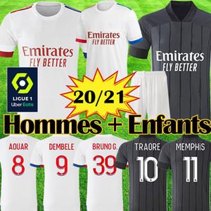20 21 Maillot Lyon 2020 2021 Olympique Lyonnais Maillot de foot Maillot de foot OL maillots de foot TRAORE MEMPHIS hommes enfants kits équipements