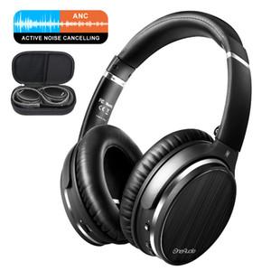 Oneodio Активное шумоподавление Наушники Беспроводная гарнитура Bluetooth Over Ear Stereo APT-X Low Latency ANC наушники с микрофоном
