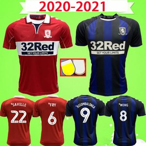 2020 2021 MIDDLESBROUGH Soccer jersey 20 21 SAVILLE FRY AKPOM Fletcher WING ASSOMBALONGA home away red Adults Men kids kit football shirts