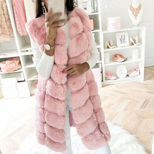 Womens Faux Fur Gilet Vest Sleeveless Waistcoat Body Warmer Jacket Coat Outwear Woman Warm Fake Fox Fur Coats Female Ladies