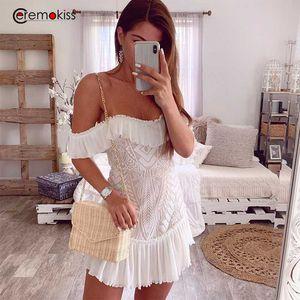 Повседневные платья Ceremokiss Сексуальное платье Женщины 2021 Летние Независимо от плеча Блэш Смерт