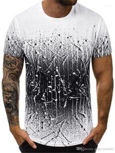 Teenagers Summer Tops Causal Mens Clothing Fashion Designer Mens T Shirts Mens Round Collar Slim Gradient Printed Tees
