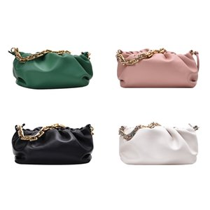 Women Chain Bag Cloud Leather Shoulder Handbags Female Clutch Purse for Outdoor Shopping Traveling Decoration