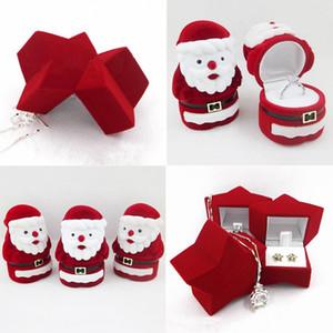 Gioielli anello dell'orecchino della collana Carino Fashion Box flanella Valentine Gift Box Babbo Natale Carino