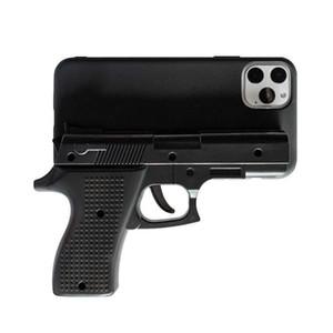 Роскошные 3D Смешные оружейные кейсы телефона для Iphone 11 Pro Max X 7 8 Plus Xr Xs макса силиконового пистолет игрушка телефон Обложка