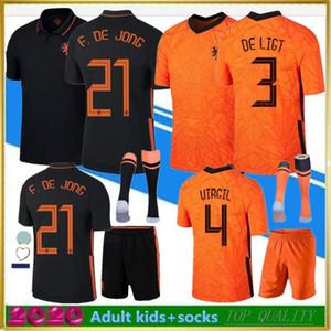 20 21 MEMPHIS futebol camisa de futebol camisa DE JONG Wijnaldum VIRGIL Holland 2020 2021 de Ligt Strootman Homens Crianças Camisa kit