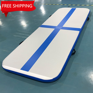 Free Shipping Free Pump Inflatable Airtrack 3*1*0.1M Folding Gym   Gymnastics Tumbling Jumping Mat for Fitness Exercise
