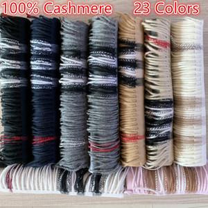 Novo 2020 Moda Inverno Unisex 100% Cashmere Lenço para Homens e Mulheres Oversized Classic Check Shawls e lenços Lenços