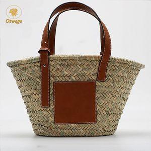 2020 Borsa Oswego Fashion Paglia borsetta 2019 Capacità tessuta borsa della spesa Estate donne Boemia paglia rattan grande spiaggia tracolla BR FEBQ