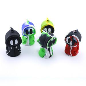 El más reciente de silicona Bong pequeño fácil de llevar fumadores bongs Perro encantador de 7 colores bongs de vidrio de agua