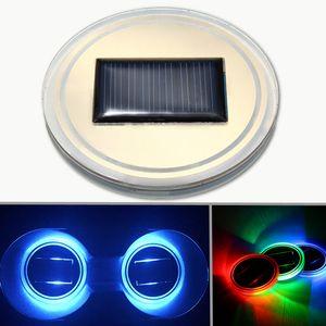 Supporto cgjxs Universal Car Cup solare fondo alimentato Pad ha condotto la copertura della luce solare Trim Atmosfera lampada