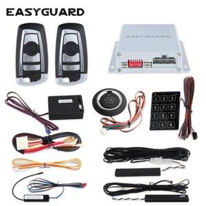 sistema de alarma de coche sin llave entrada pasiva EASYGUARD salto de código automático de arranque sin llave entrada de contraseña del sistema sensor de 12V CC