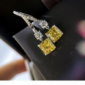 Women EarringsSquare diamond earrings style for women chrismas gift cheap earrings 2020 new designer 2