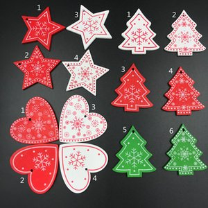 Mini Christmas Wooden Ornaments 10pcs Lot 5cm Hanging Christmas Decoration Pendants For Christmas Tree Decorations Free Shipping