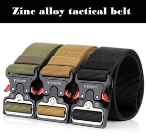 Hot selling 5cm wide Cobra tactical nylon mens belts Multi-functional belt Army fan men armed training belt