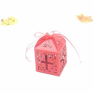 Casamento Suportes caixa do favor Chocolate Doce Caixas de presente nupcial aniversário oco Paper Box Retângulo País Praia Presentes de casamento Souvenirs