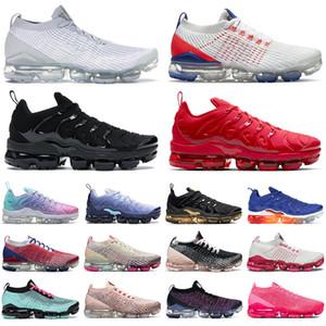 Yeni nike air vapormax plus 3.0 artı erkek koşu ayakkabıları kadın eğitmenler Üçlü Siyah Beyaz Kırmızı Astronomi Mavi ABD Limon Kireç Pastel erkekler açık spor ayakkabı