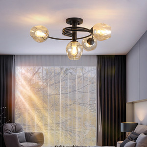 Vintage Glass Ball Chandelier Ceiling For Bedroom Modern Living Room Ceiling Lights  Light Fixture Lusters Luminaire Lampara