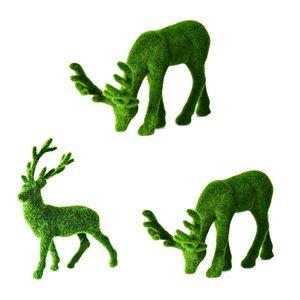 Falso planta verde Moss animal artificial planta Simulação Moss Veado Decoração Jardim Interior Falso vaso