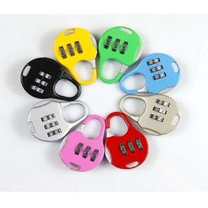 Color Mini Padlock For Backpack Suitcase Stationery Password Lock Outdoor Travel GYM Locker Security Metal Cartoon Padlock RRA1860