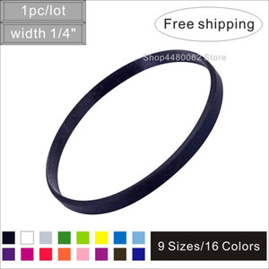 1pc lot width 5mm Blank Silicone Bracelet Pure Color Silicone Rubber band with cheap price