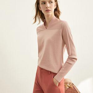YICIYA Printemps Vneck Knit FrenchShirt Femme Automne causales pleine manches Débardeurs Casual Mode solide Chandails d'hiver