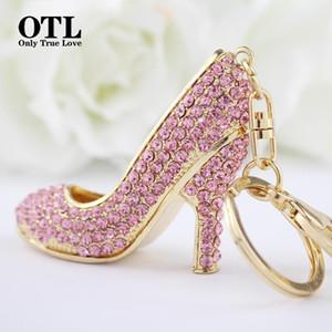2020 New Style Chic High Heel Crystal Rhinestone Keychains Shoe Keyring charm Women Handbag key holder Girl Bag Pendant Jewelry