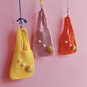 Kinder-Mädchen-Kind-Münzen-Geldbeutel-Beutel Hobos Mini Small Solid Knitting Korean Zubehör Großhandel Geschenk