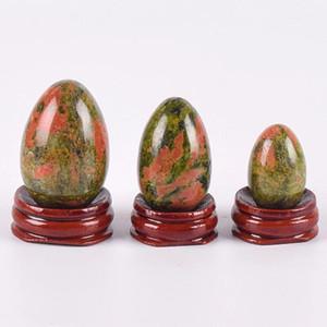 Yoni Egg 3pc Seti deliksiz Unakite Yoni Yumurta Doğal Taş Maden Topu Kadınlar Kegel Egzersiz Pelvik Taban Sağlık Aracı