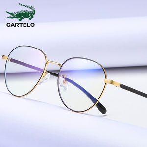 CARTELO Women Anti Blue Light Computer Glasses Cool Fashion Metal Clear Lens Eyeglasses Black Female Anti Blue Ray Glasses