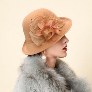 Eillysevens élégant 2020 Fascinators Hat pour les femmes Vintage robe de dames femmes Chapeaux # G40