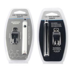 Min.5pcs 650mAh Preheating Vape Pen 510 Thread Vape Battery Variable Voltage 3.3-4.2V Fit Thick Oil Vape Cartridges