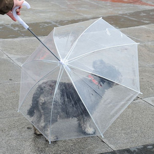 Pet Umbrella with Leash for Dog Puppy Dry and Comfortable in Rain Built-in Leash Umbrella KKA8078