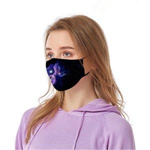 1 1pcs Máscaras Fa 3 f capas a prueba de polvo facial Maske Er Ski Set Polvo Dener Impreso Mout Máscara adultos Famask E7M # 261 # 129