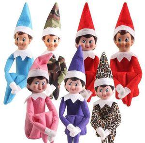 10 Styles Christmas Elf Puppe-Plüsch-Spielzeug Elfen Sankt Puppenkleidung auf dem Regal für Weihnachtsgeschenk Freies Verschiffen