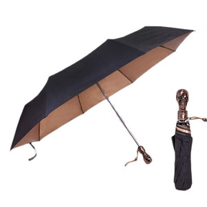 الرجال التلقائي المحمولة المظلات صامد للريح الإبداعية التعامل مع ريترو قطرة الجمجمة للطي مظلة SAFEBET شحن SAFEBET الإبداعية lNhMk