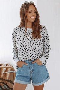 Imprimir suéter del invierno del otoño de manga larga Casual Leopard Tejer suéteres de moda femenina Ropa para mujer de lujo del diseñador